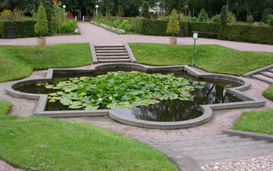 Lake Pond, Aquarium lacustre, The Linnaeus Garden, Uppsala university